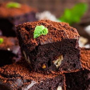 3 Zutaten Protein Brownie