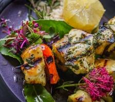 Gegrillte Chicken Kebab