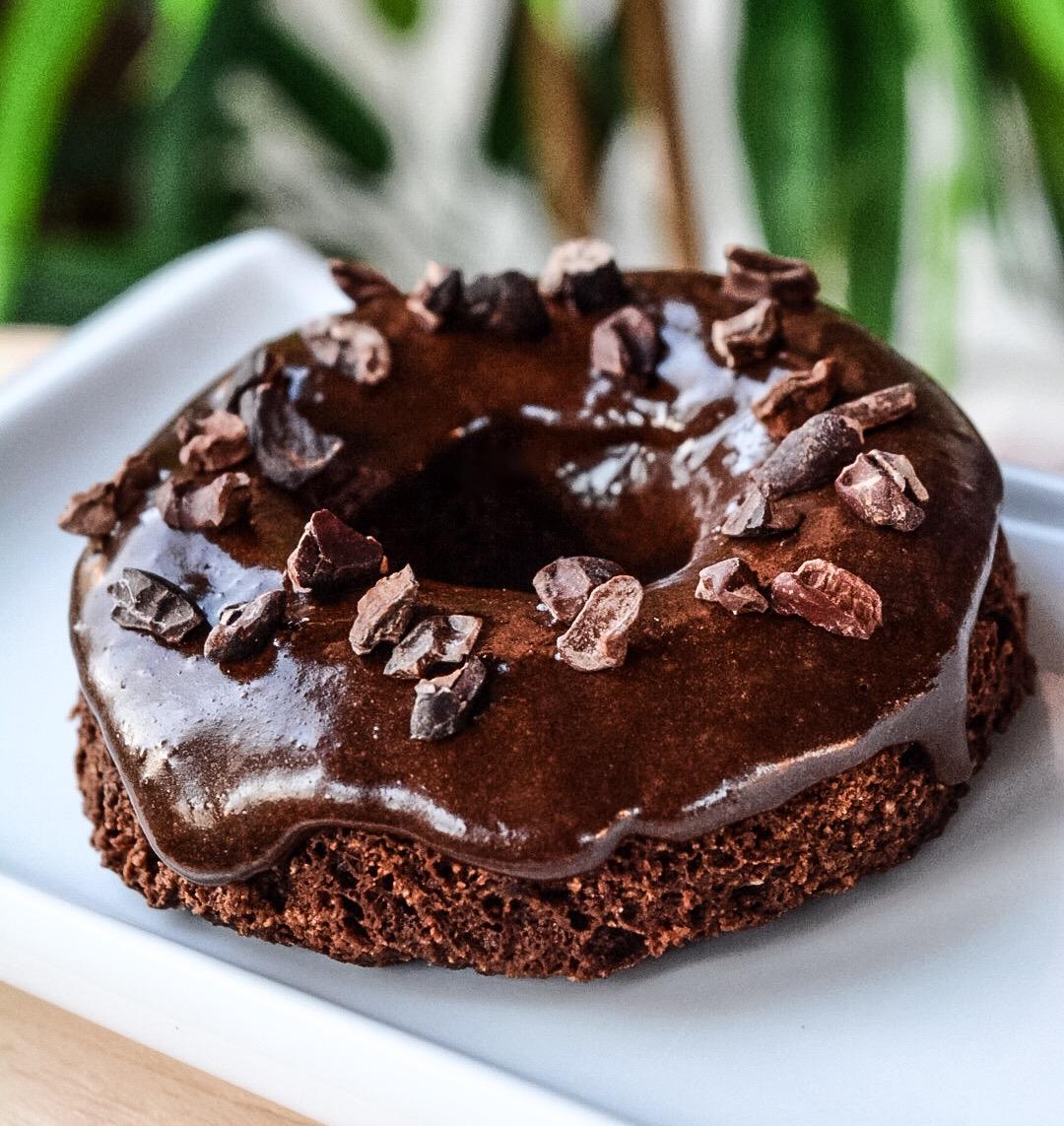 Donut proteico de chocolate