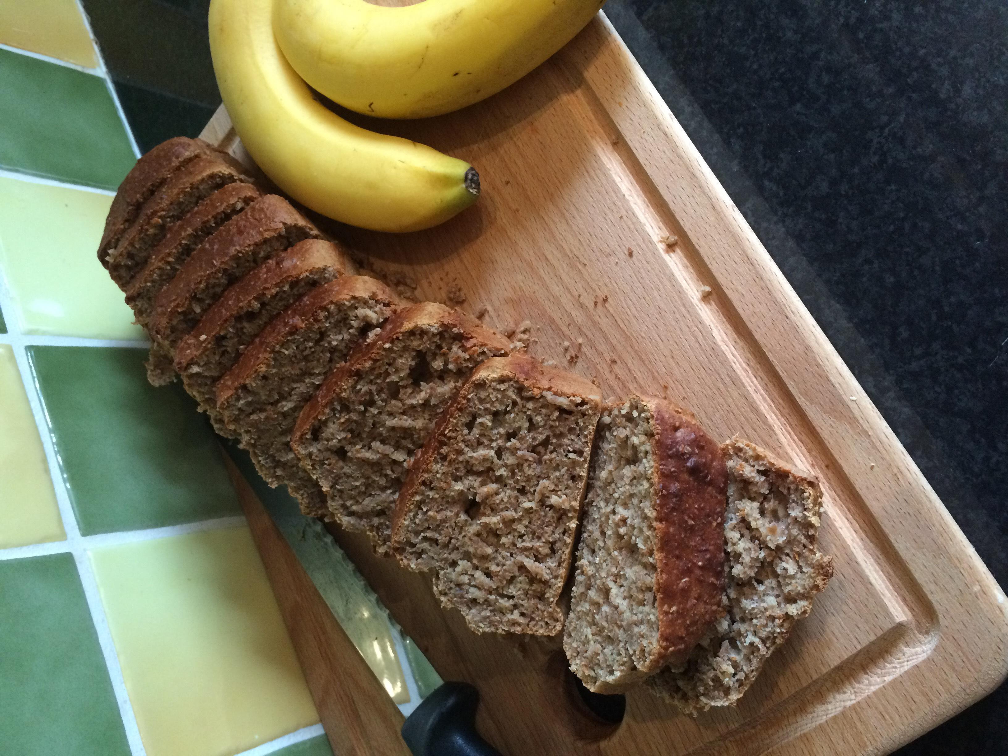 Pastel de plátano y chocolate