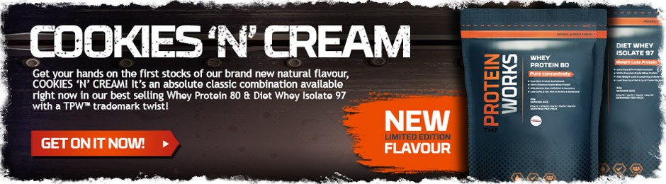 Cookies n Cream Flavour Whey Protein Shake