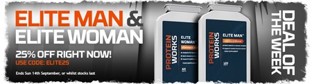 DEAL VAN DE WEEK - 25% KORTING OP ELITE MAN & ELITE WOMAN!