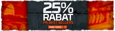 25% rabat på best sellers