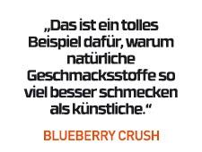 Blueberry Crush Geschmack