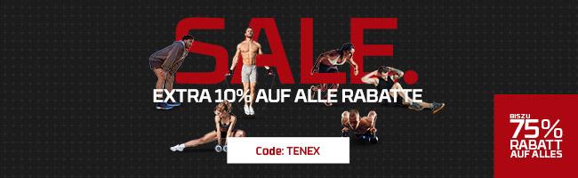 BIS ZU -75% RABATT IM SALE & 10% EXTRA | CODE: TENEX