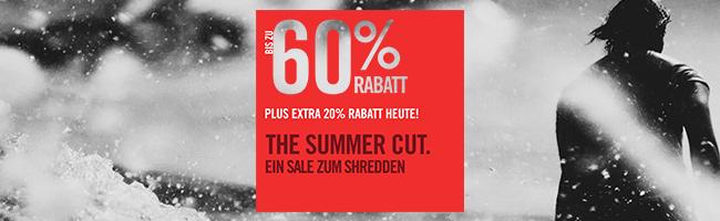 Bis zu 60% Rabatt + 20% EXTRA