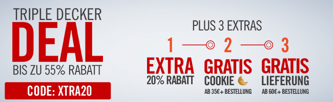 Bis zu 55% Rabatt + extra 20