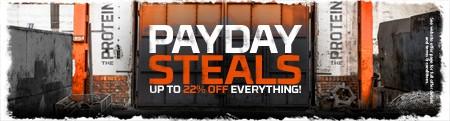 PAYDAY STEALS | OP TIL 22 % RABAT!
