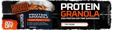 20 % rabat på proteingranola