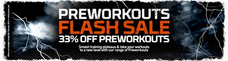 PRE-WORKOUT FLASH SALE?| 33% KORTING!