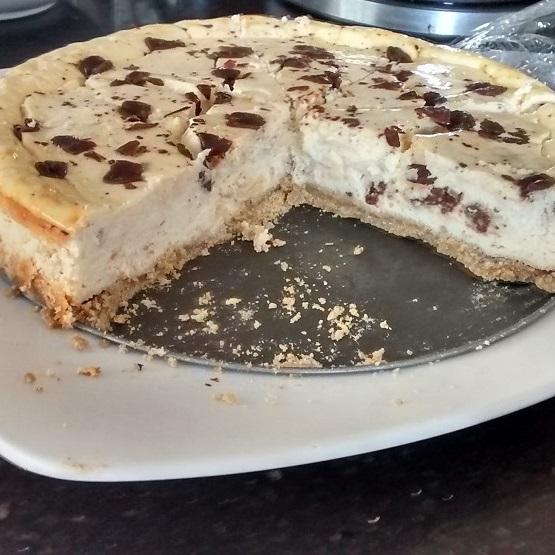 Tarta de queso chocolate y vainilla