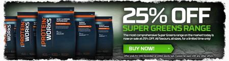 25% korting op Super Greens
